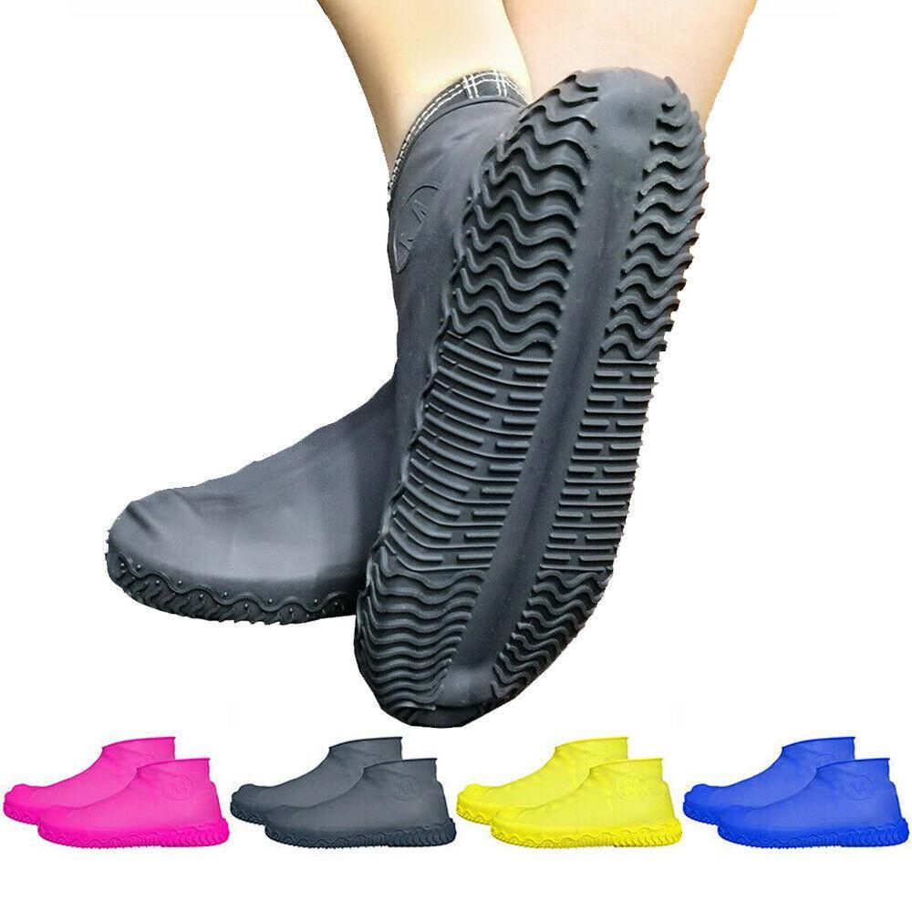 Riutilizzabile in lattice di pioggia impermeabile copriscarpe 1 paio antiscivolo in gomma stivali da pioggia Moto Bike Copriscarpe Scarpe Accessori