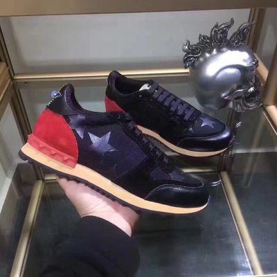 DISEÑO DE LUJO marca de diseño hombres del cuero genuino ZAPATOS PARA HOMBRE Carrera Participantes MUJERES monopatín zapatos de suela blanca para mujer CS07 hy08