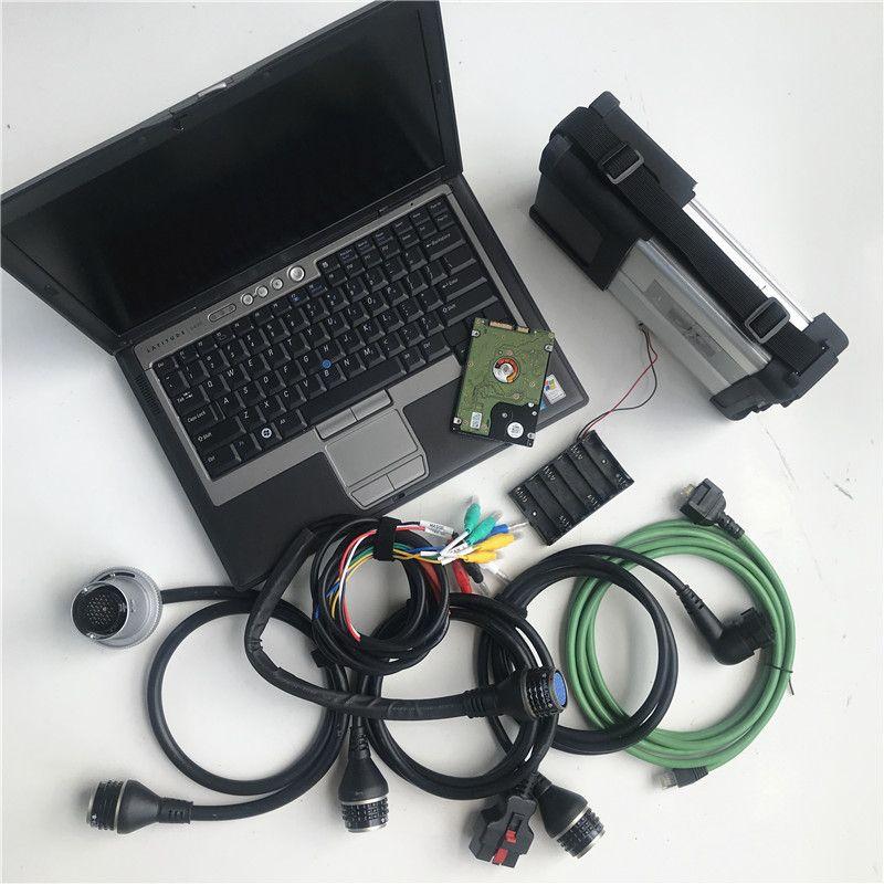2019.12V MB Star C5-ware suave instalar en el ordenador portátil usado D630 4G SD RAM conecta el acuerdo 5 herramienta de diagnóstico auto escáner para Vehículos MB