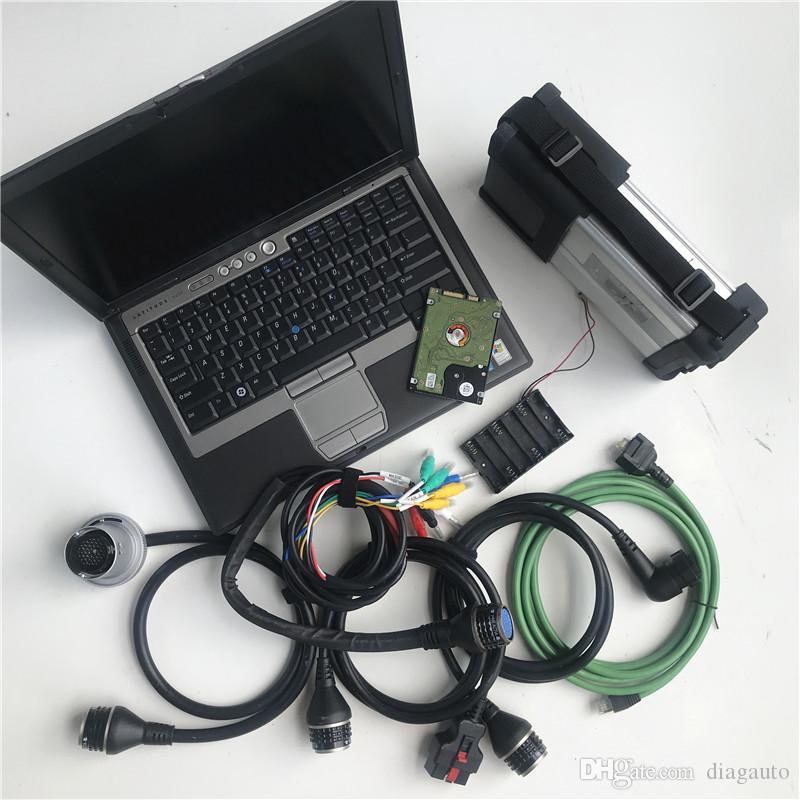 2020.06V MB ستار C5 لينة وير تثبيت في تستخدم أجهزة الكمبيوتر المحمول D630 4G رام SD ربط الاتفاق 5 الماسح الضوئي السيارات أداة تشخيصية لMB المركبات