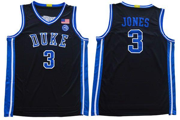 Nuova qualità Vintage Duke Blue Devils # 3 Tre Jones Blake Griffin 23 American College Basketball economico cucita uniformi Camicie Pullover di sport