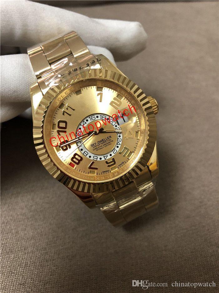 Master Styles M326938 Luxusuhren Designer 42mm 326935 Gold Alle Bewohner Bewegung Herren Mechanical 326938 Automatischer Himmel GMT 6 Uhren Ogji
