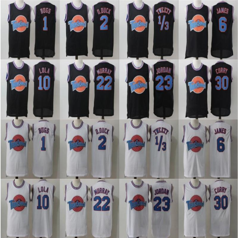 Космическая варенья мелодия Squad Jersey Daffy Duck Bill Murray Bugs Bunny Lola Bunny Looney Tunes Basketball Jerseys! TAZ 1/3 Tweety.