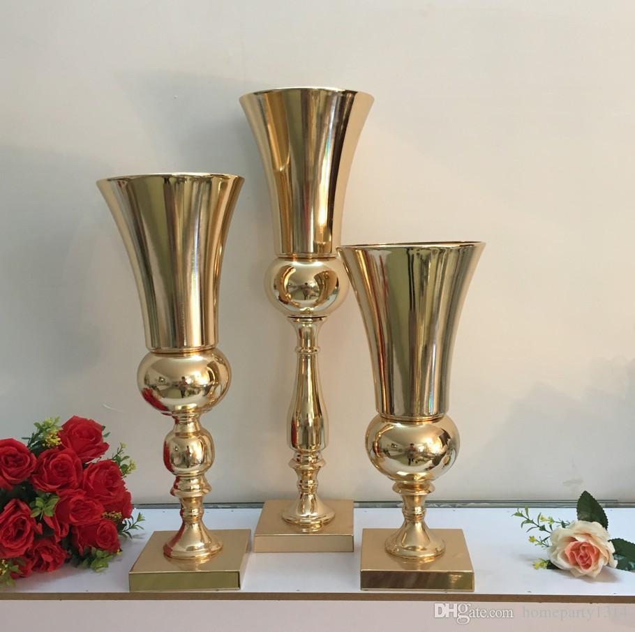 Hotel supplies wedding props metal vase stage wedding table centerpieces flower arrangement home porch decor Iron vase wedding flower vase