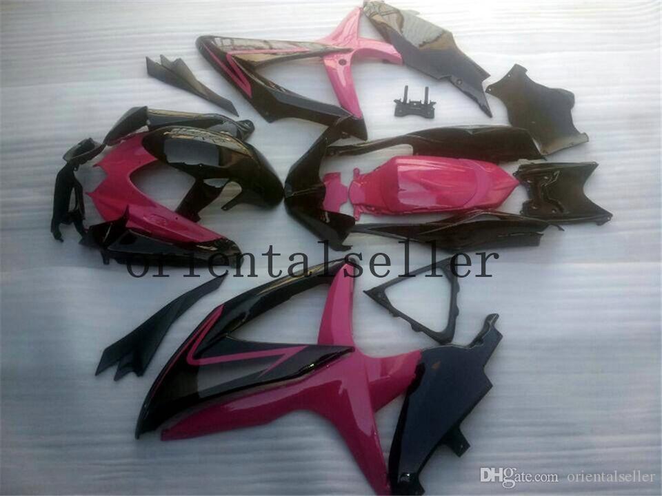 nuovo per SUZUKI GSXR 600 750 GSX R750 R600 GSXR600 08 09 10 GSXR750 GSXR600 GSXR750 K8 2008 2009 2010 rosa rossa carenatura kit AA03