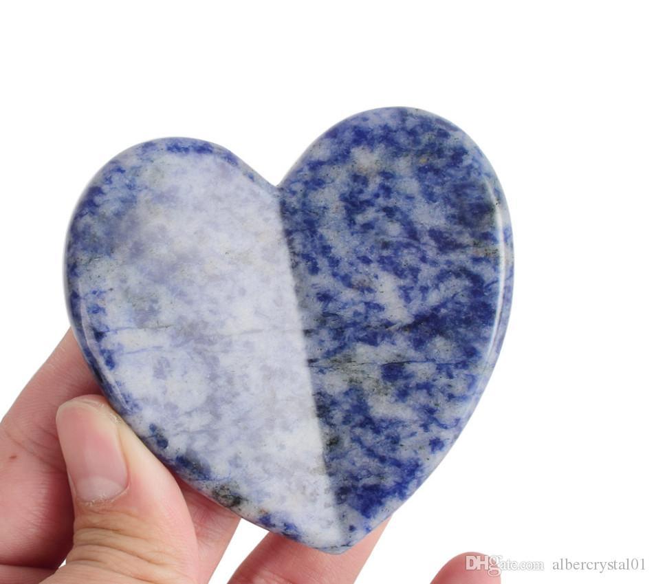 Bella fatti a mano cinese tradizionale blu del punto di Giada Guasha Consiglio Terapia Grade Gua Sha Raschiare Strumento di massaggio