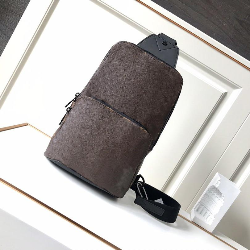 Best Quality Men Avenue Sling Bag Canvas Textile Lining Men Avenue Shoulder Bags Fashion Purses Handbags Real Leather 5 colors with Box