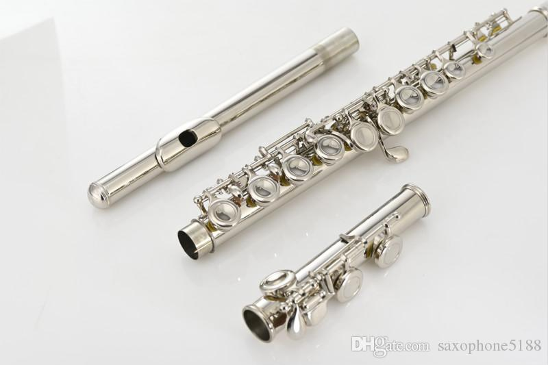 MARGEWATE MGT-221P C Tune 16 Keys Hole Closed Flute High Quality Nickel Plated E-Mech Flute New Arrival Musical Instrument