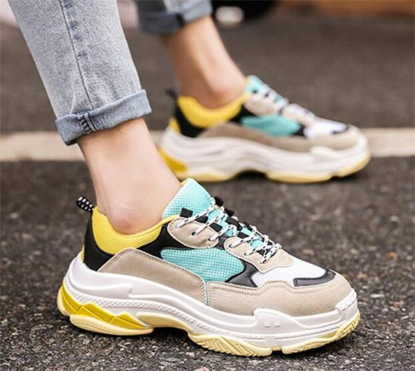 Rabbit Nian Chao Shoes. Korean Version 100 sets of breathable leisure shoes. Thick-soled retro student sneakers 2019