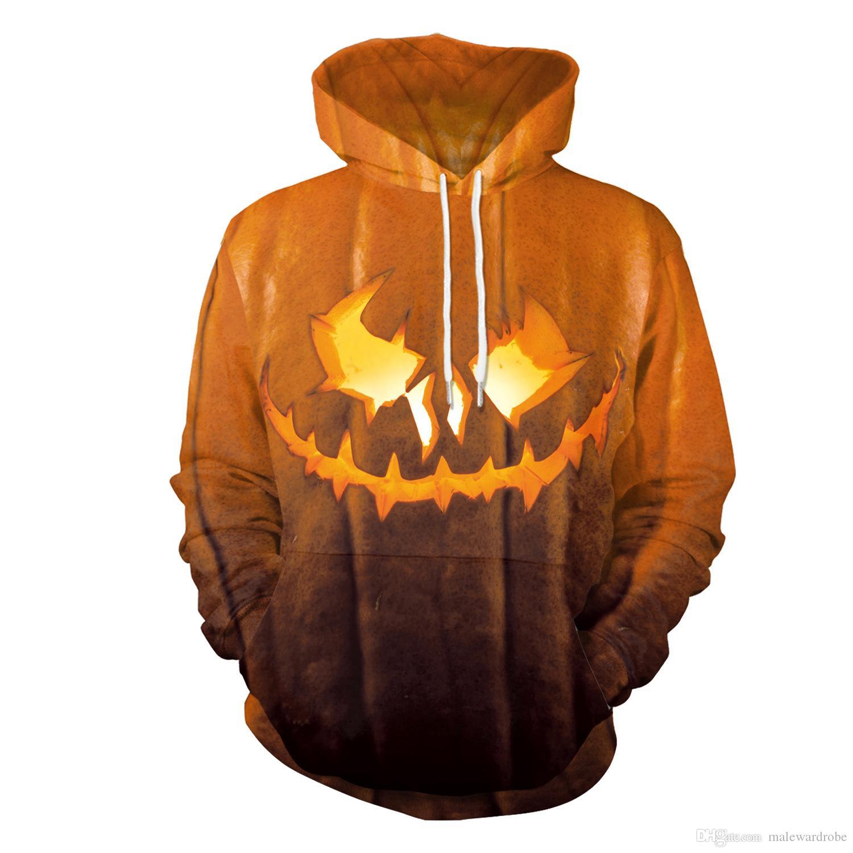 Costumes Noite Halloween Party Stage abóbora Lanterna Hoodies Europa e nos Sweater Casual Estados Unidos Outono Nova Moda com capuz