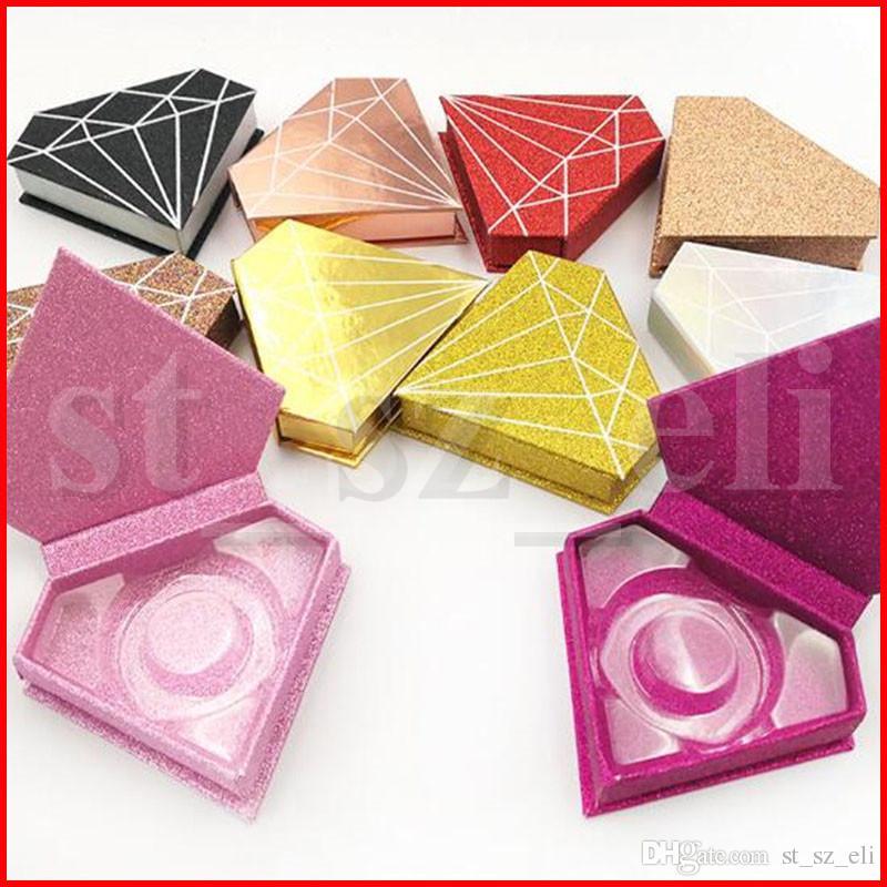 シマーダイヤモンドボックス3Dミックまつげボックス偽まつげケースミンクラッシュパッケージラッシュボックスギフト包装箱磁気ケース