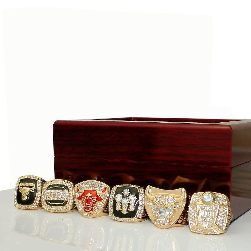Regalo Fan ricordo all'ingrosso di campionato anelli di basket Champion Anelli 6 pezzi set Combinazione