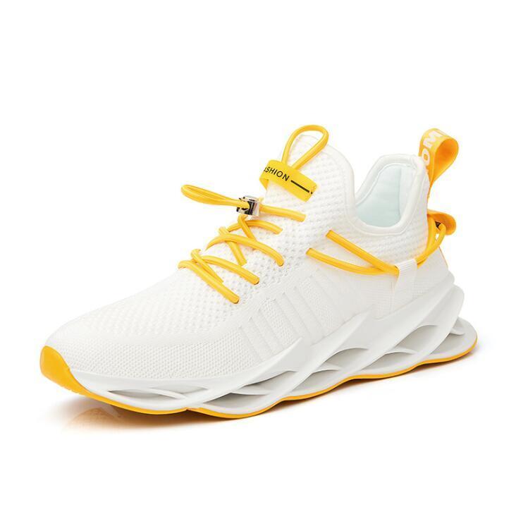 Nouvelle Tendance Chaussures de course Hommes Lame d'été respirant Chaussures Hommes Casual Mode Lace Up Men Designer Shose plus Taille 46
