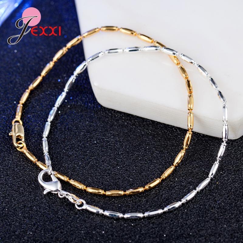 Yeni Geliş Basit Zeytin Boncuk Zincir Bileklik Bileklik İçin Kadın 925 Gümüş Manşet Takı Hediye Drop Shipping Toptan