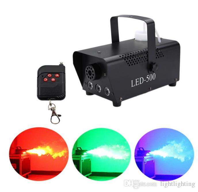 Expédition rapide disco coloré machine à fumée mini LED à distance brumisateur éjecteur dj fête de Noël scène lumière machine à brouillard