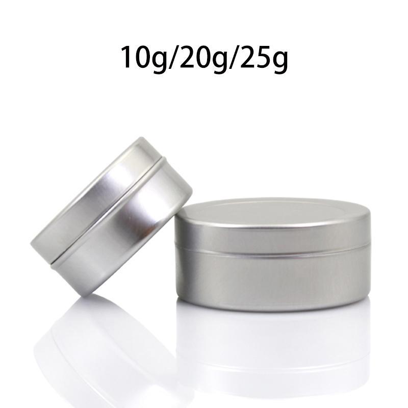 10g 20g 25g Gümüş Alüminyum Kavanoz Kozmetik Poly Jel Göz Kremi Konteyner Küçük Hap Kapsül Losyonu Packaging Şişe Ücretsiz Kargo