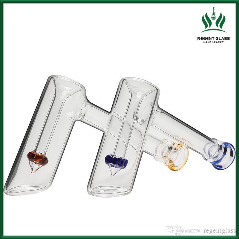Стеклянных водопроводных труб Бонг забивать винт молотком стиле проц bubbler стекло нефтяных вышек бонги мини ручной трубы для курения