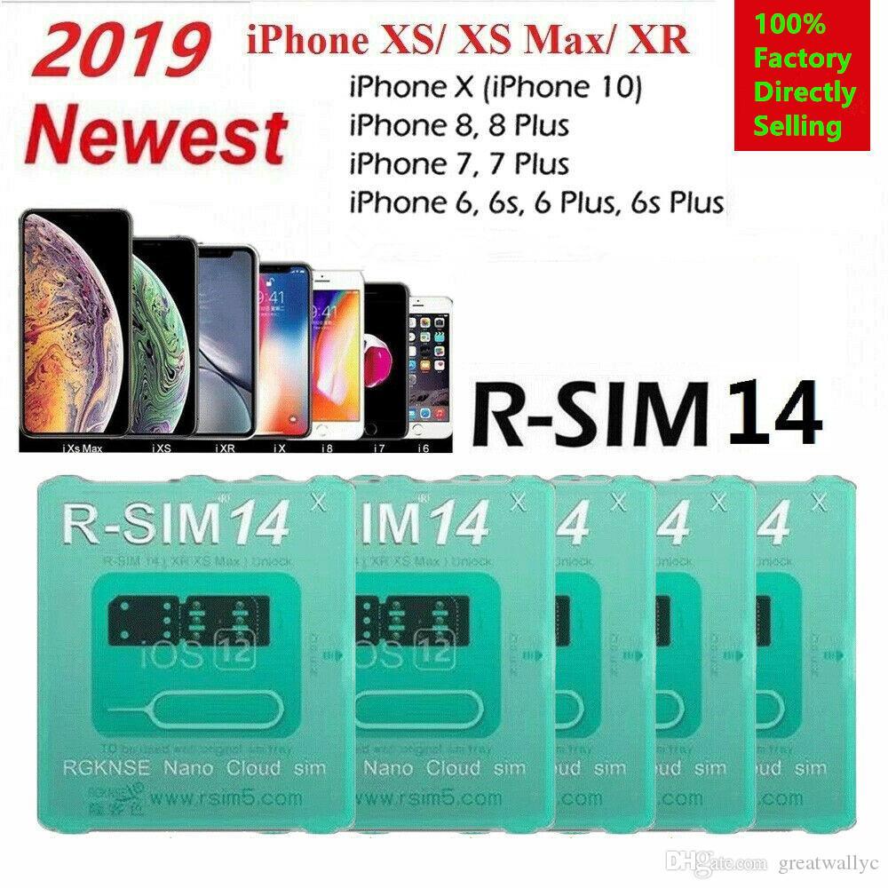 Newest R-SIM 14 V18 R sim14 V18 RSIM14 V18 RSIM 14 Unlock Iphone XS Max IOS12.X ICCID Unlocking SIM Unlock Card R-SIM14