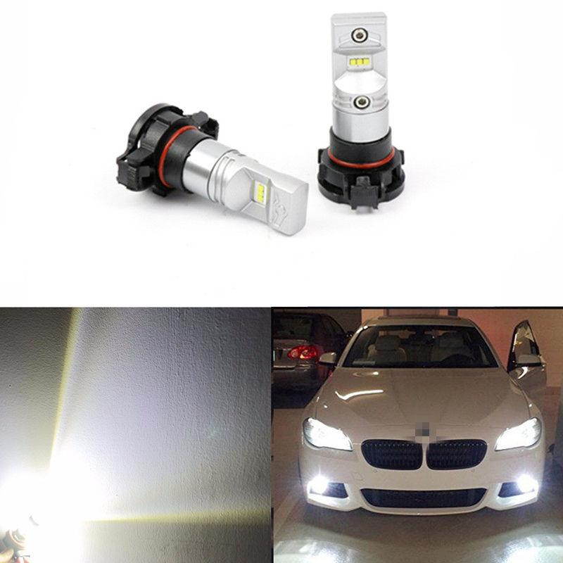 2X 6000K HID White High Power 80W LED H16 5202 Fog DRL Light Bulbs