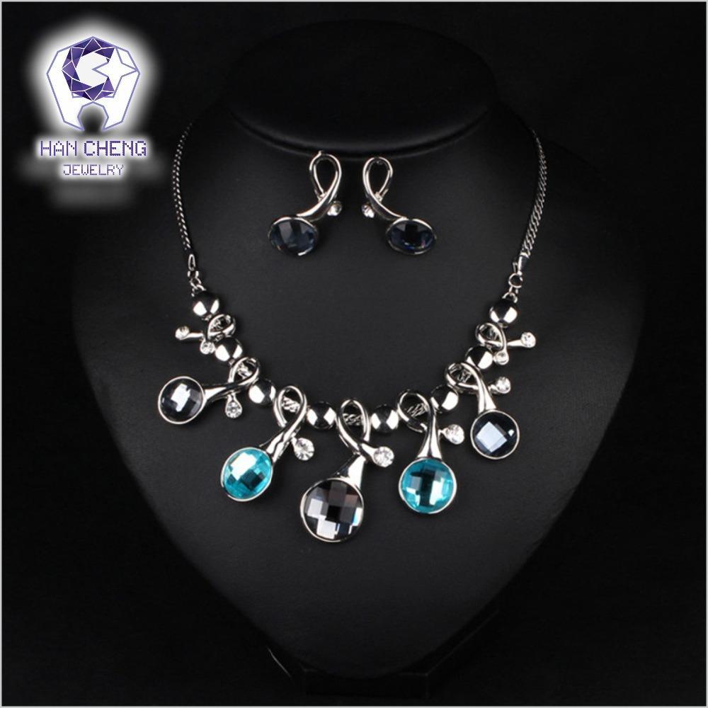 Venta al por mayor nueva moda de lujo Rhinestone corte creado cristal declaración gargantilla collar mujeres joyería Parures collier aleación