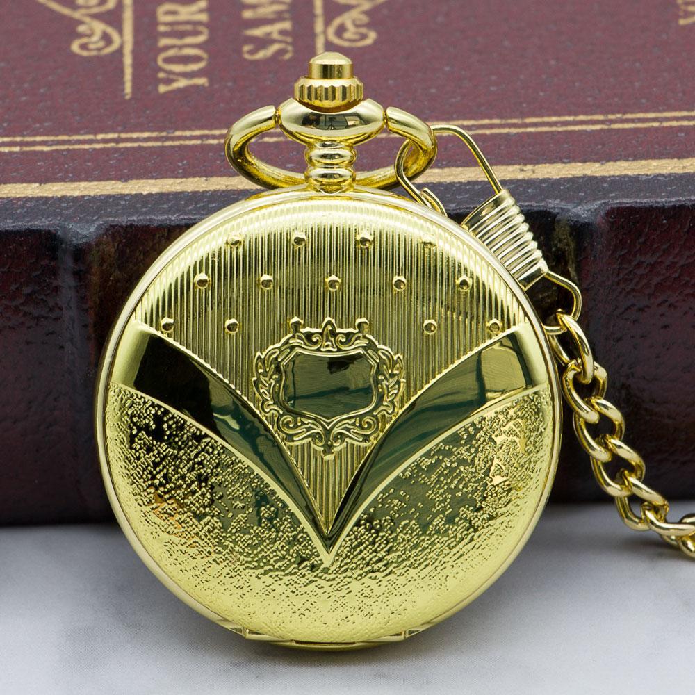 Melhor Relógio de bolso mecânico automático dourado das vendas para a forma luxuosa da enfermeira da forma Homens à moda na moda das mulheres com corrente PJX1322 de Fob