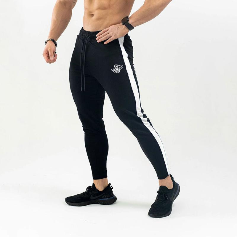 Siksilk 가을 새로운 남성 피트니스 스웨트 팬츠 남성 체육관 보디 빌딩 운동면 바지 캐주얼 조깅 스포츠 연필 바지