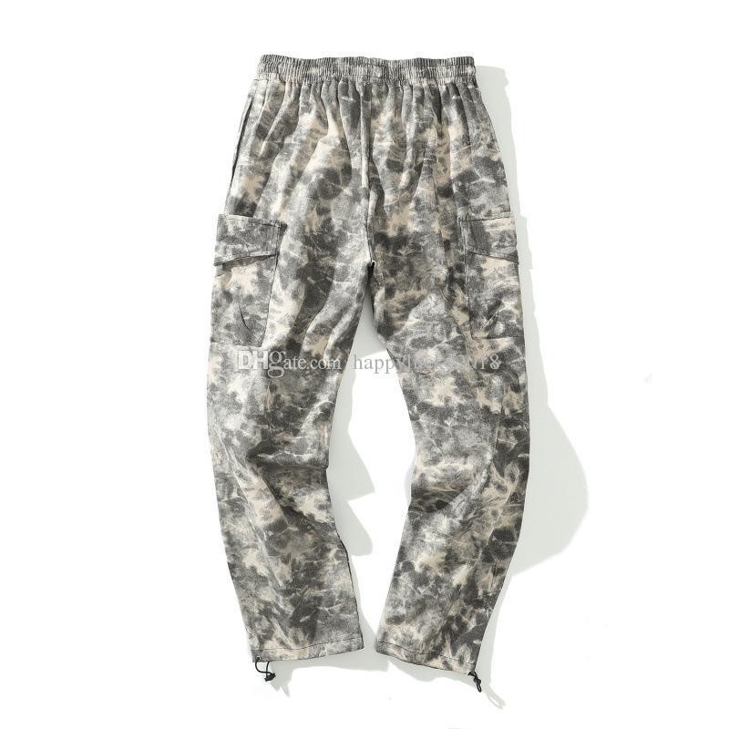 Original Street Fashion neue europäische und amerikanische Retro-Tarnung Multi-Tasche Overalls Herren Trainingshose 14