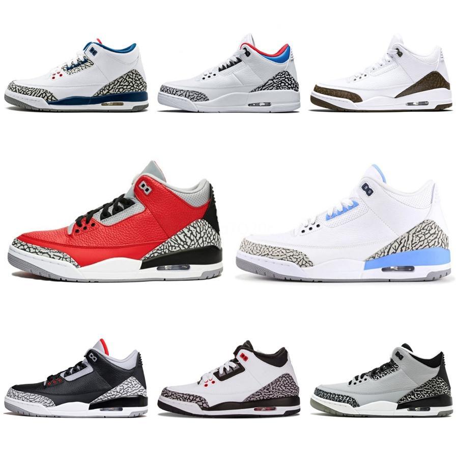 Alta qualità 3 Denim Travis Blue Black White Denim pallacanestro scarpe da uomo 3S blue jeans di sport scarpe da tennis con la scatola # 428
