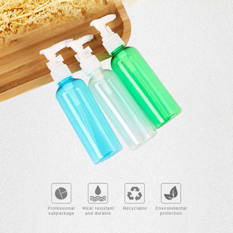 Dropshipping 100ml squeeze Packing bottle with pump head lotion press bottle pressure duckbill type sub-bottle shampoo sample bottle W1203