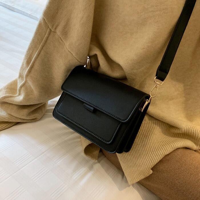 Entrega libre 2019 del nuevo de las mujeres de hombro de alta calidad de la Plazoleta Bolsa de moda Bolsa Retro Individual Amplia correa para el hombro inclinado bolsa