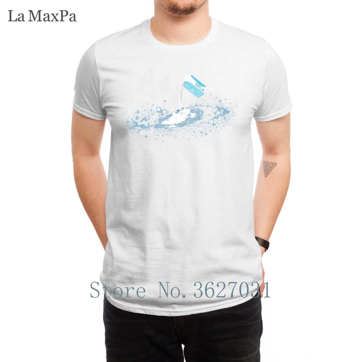 Progettazione Slim T Shirt Il sito web della Via Lattea Estate Stile Uomo comico formato S-3XL Tee Shirt Top Man Hiphop