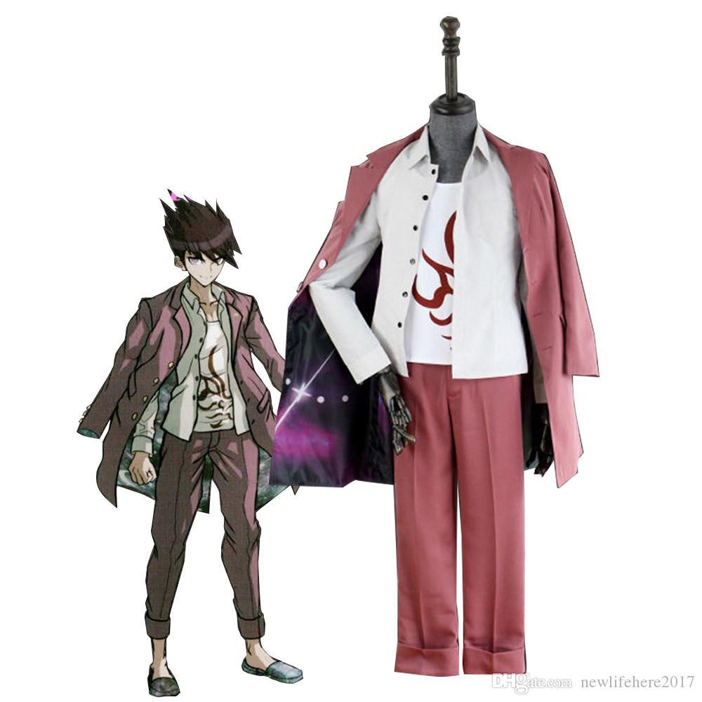 Danganronpa V3 Tuer Harmony Momota Kaito Cosplay Vêtements Costume Accessoires Perruques de haute qualité
