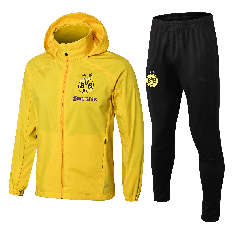 2020 High Quality New 2020 Borussia Dortmund Men Dust Coat Hoodie Jacket 2019 Bvb Tracksuit Football Jersey Paco Hoodie Reus Windbreaker Coats From Sportswear16889 32 13 Dhgate Com