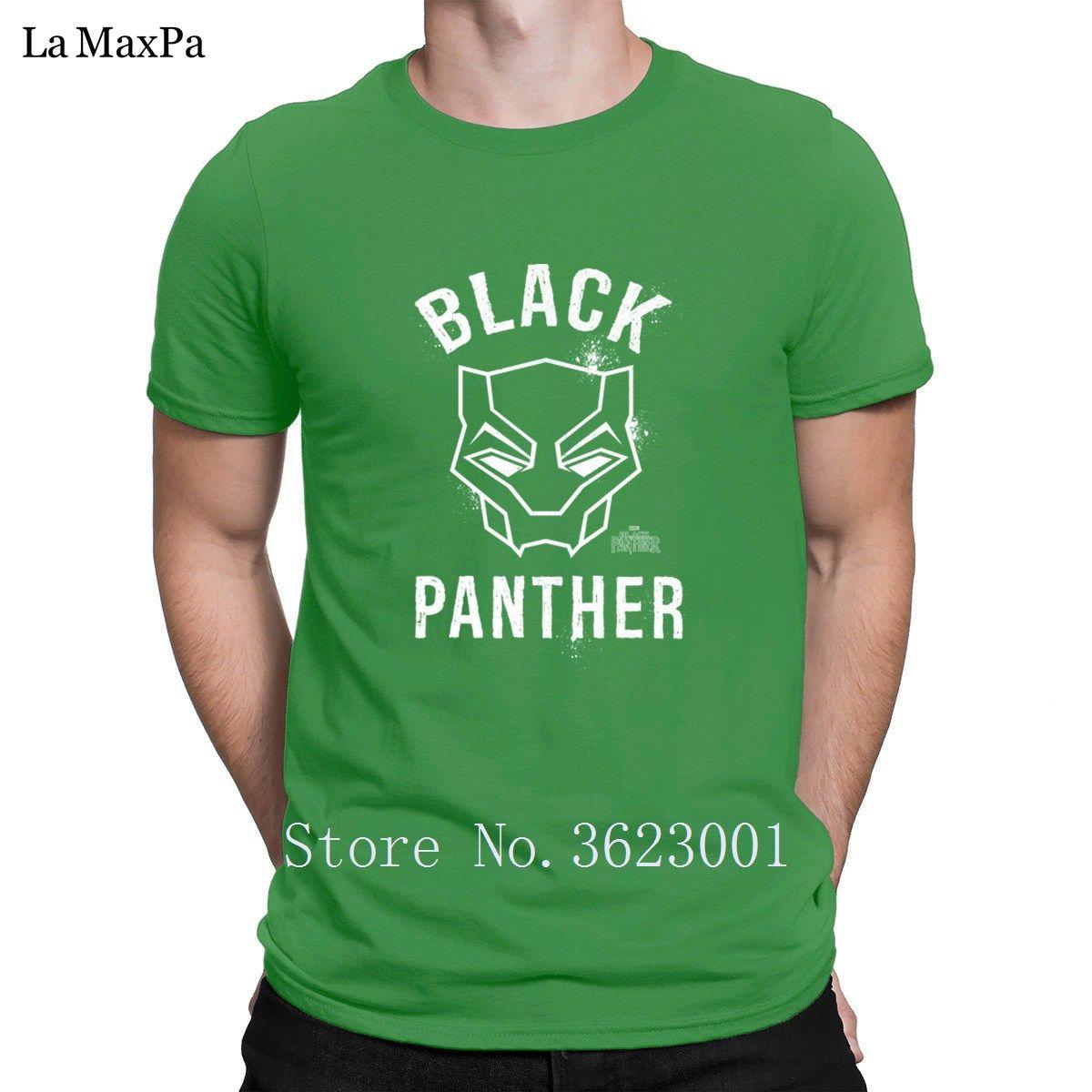 Entwerfen Sie beiläufige Mens Black Panther-Maske T-Shirt Unisex Männer Unique T-Shirt für Männer O Ansatz Verrücktes