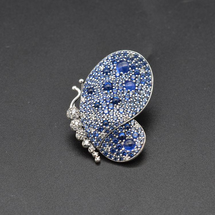 Acheter Broche Papillon Broche Bleu Charms 925 Sterling Silver Fits Pour  Bracelet De Style Bricolage Broche Bleu Éblouissante Broche 697996NCB H8 De  ...