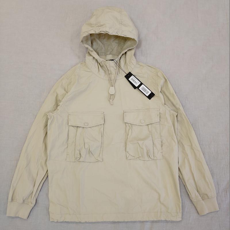 19SS 639F2 유령 PIECE 작업복 / 아노락 COTTON NYLON TELA 풀오버 자켓 남성 여성 코트 패션 겉옷