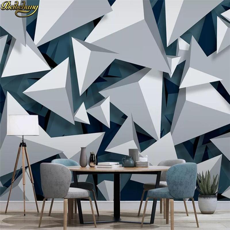 fondo de pantalla personalizado mural de música abstracta minimalista geométrico 3D sofá de la sala de televisión moderno de pared papel tapiz de fondo 3d