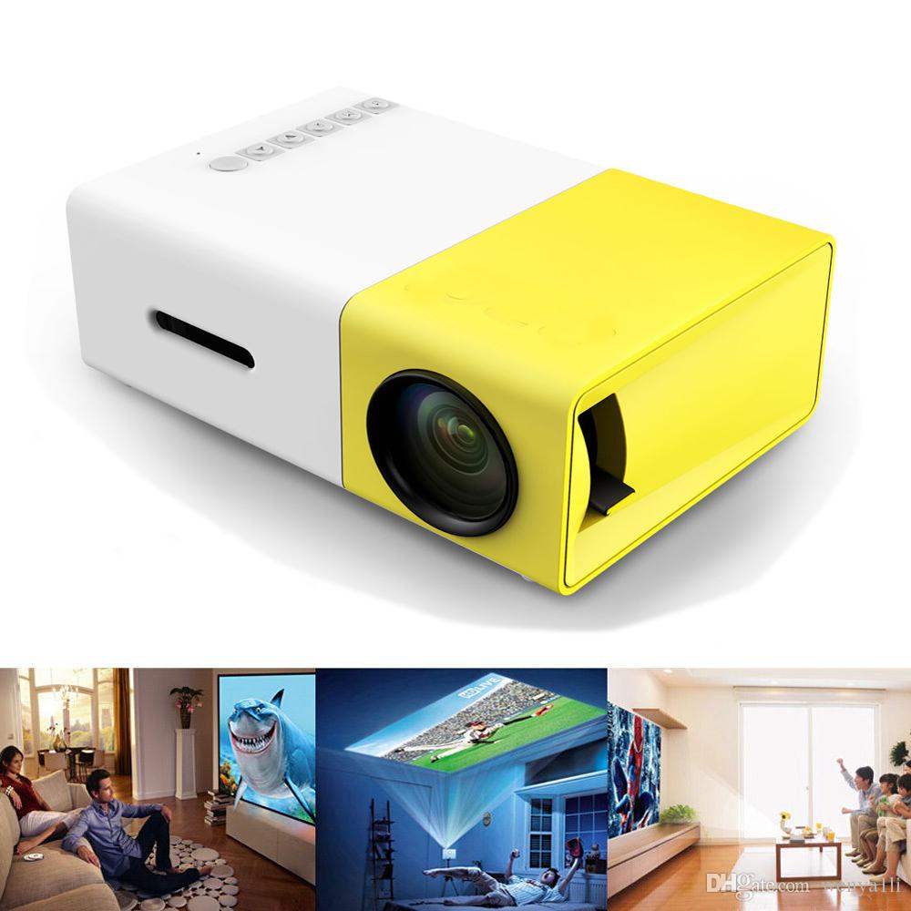 Hot YG-300 LCD Led Mini Projector 400-600LM 1080p Video 320 x 240 Pixel Media LED Lamp Player Best Home Protector YG300
