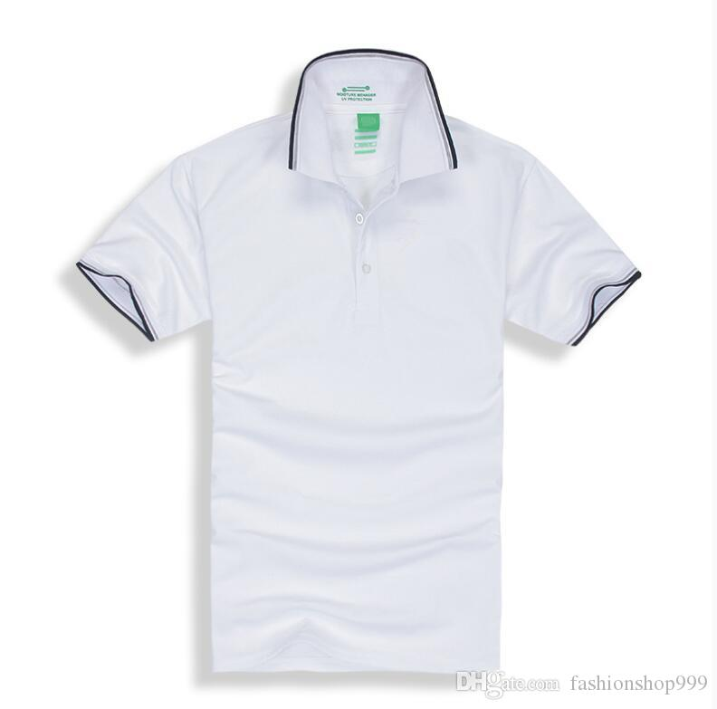 2019 Neue Marke Herren Kurzarmhemd Buchstabe T-Shirt bestickt Poloshirt Herren Luxus Polo Herren Baumwoll Kurzarmhemd
