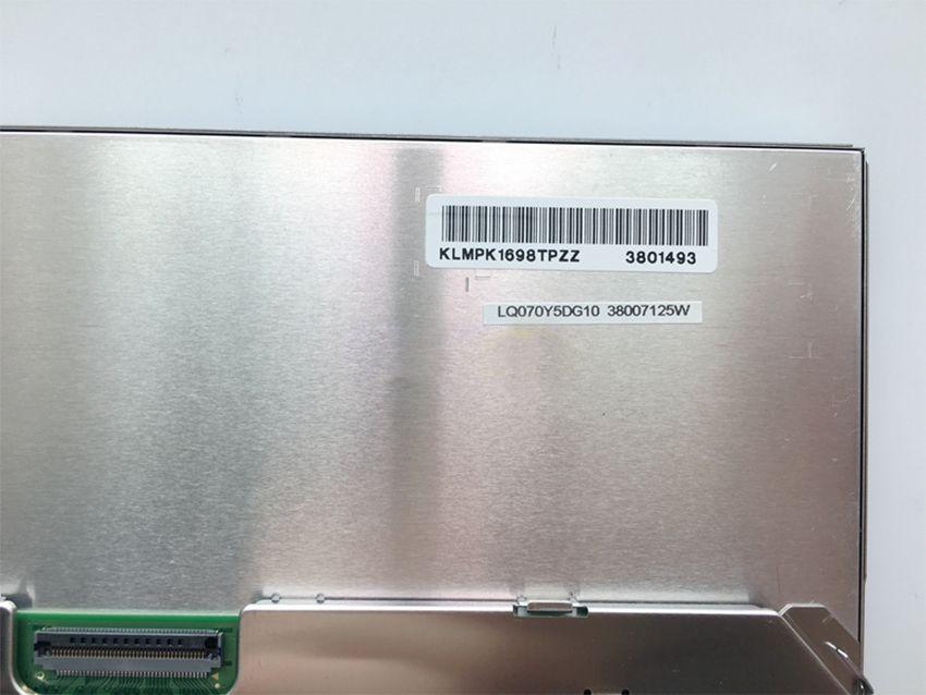 Livraison gratuite 7 pouces écran LCD LQ070Y5DG10 pour Toy-ota Lexus voiture GPS navigation LCD moniteurs LQ070Y5DG10 Panneau d'affichage à l'écran LCD 800 * 480