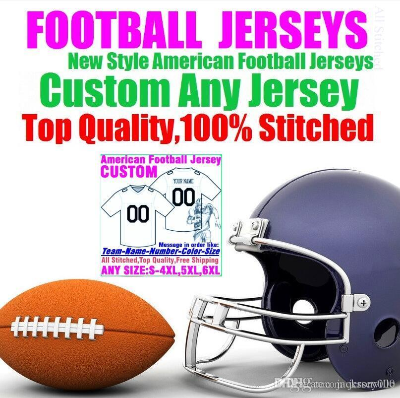 Personalized american football jerseys Custom Tennessee Denver college authentic cheap baseball basketball hockey jersey 4xl 5xl 7xl york