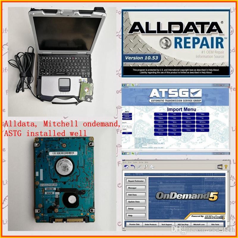 Alldata 10,53 м.itchell по требованию 2015 ATSG 3in1tb HDD установлен хорошо используется ноутбук CF30 4G для автосервиса диагностики программы