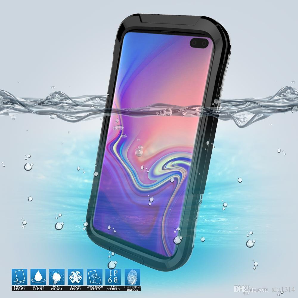 Funda impermeable de buceo de teléfono para la nota 10 Plus Nota 9 8 Plus S10 S9 S8 completa sellada Cubierta de protección IP68 completa