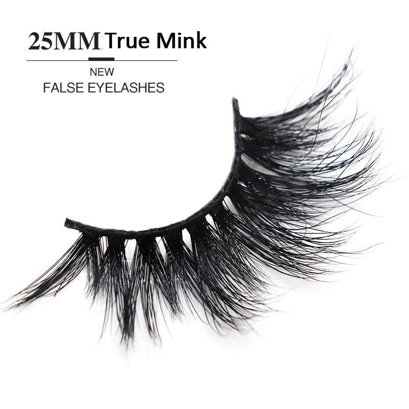 25mm Mink False Eyelashes Natural/Thick Long Eye Lashes 5D True Mink Wispy Makeup Beauty Extension Tools Dense Long Eyelashes