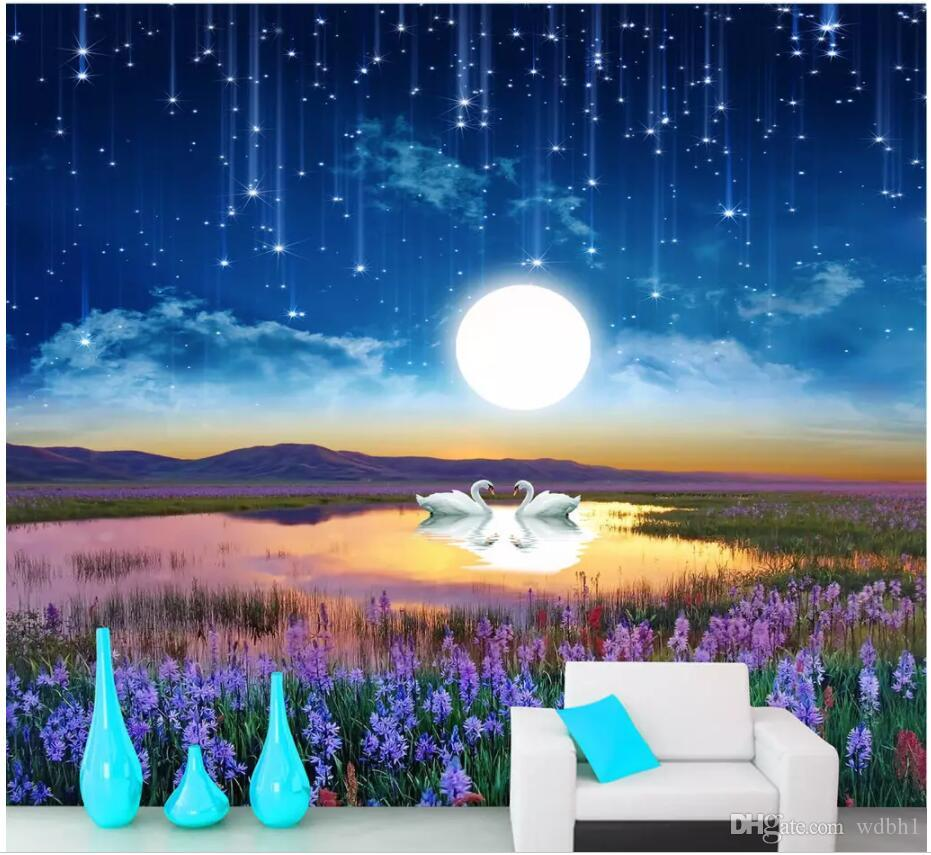 Wdbh 3d Photo Wallpaper Custom Mural Beautiful Dream Starry Sky