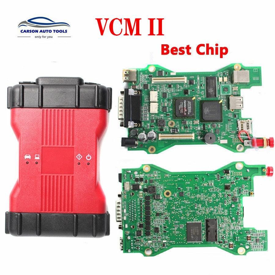 Free shipping VCM 2 Dianostic Scanner Multi language VCM2 IDS Best Chip Diagnostic Tool VCM II VCMII OBD2 Scanner For Frd/M azda