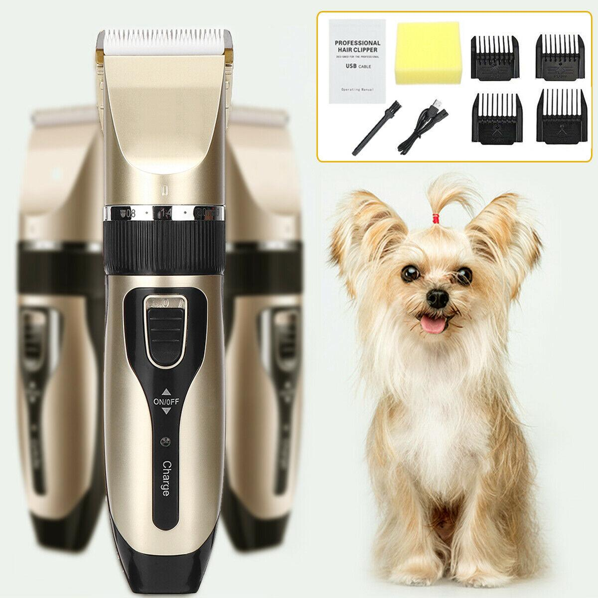Professional Grooming Kit Electric Rechargeable Pet Dog Cat Animal Hair Trimmer Clipper Shaver Razor Set Cutting Machine
