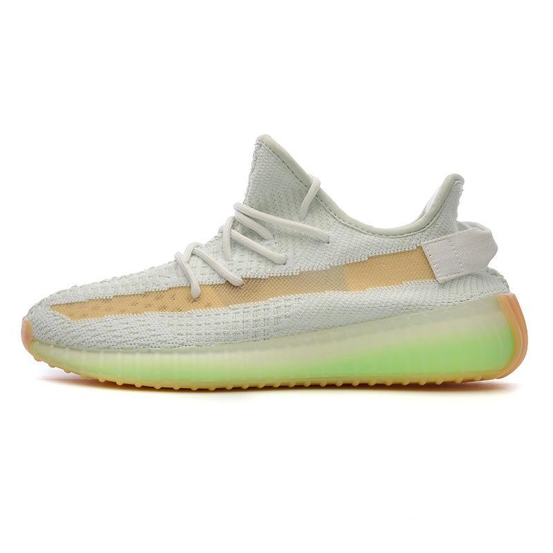 Karbon Mavi V2 Tasarımcı Ayakkabı Dalga Runner Teal Mavi Vanta Atalet Kanye West Kutusu # QA808 ile Ayakkabı Erkek Kadın Spor Ayakkabı Koşu