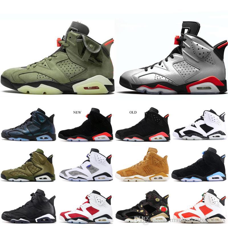 Yeni Erkekler 6 6 S Halkalar Basketbol Ayakkabı Yansıtıcı Hatalar Bunny Pinnacle CNY BRED Atletik Spor Erkek Ayakkabı Sneakers 713