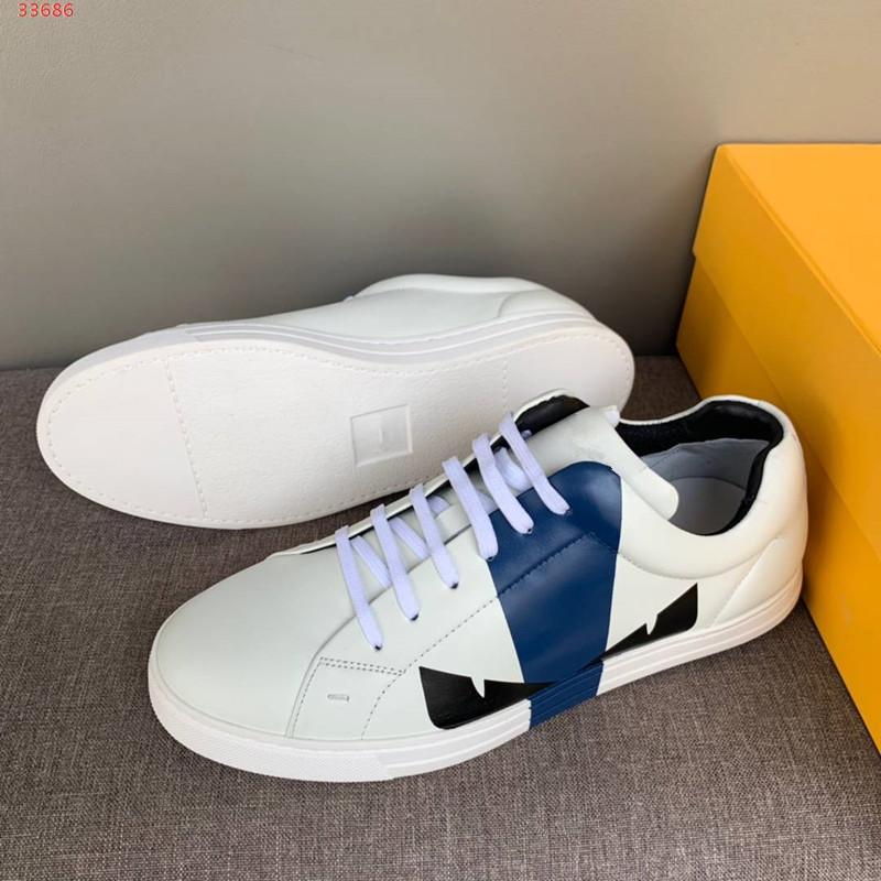 2020 hombres de los zapatos de cuero del diseñador de moda cómoda respirable del cuero genuino informal de gran tamaño diseñador de los hombres tamaño de la zapatilla de deporte 38-45